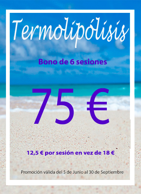 Promoción Bono de 6 sesiones de Termolipólisis por 75€